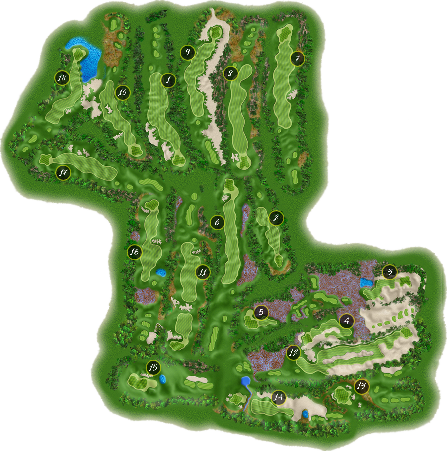 Golf Course Map Course Map | Hemlock Golf Club Golf Course Map